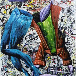 Ajining rogo soko busono series 1 acrylic on canvas, 35 x 25cm