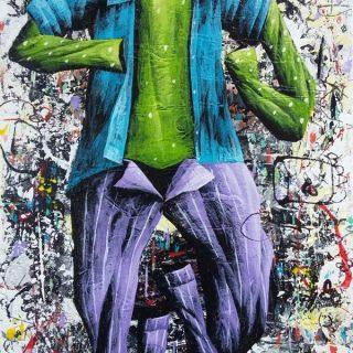 Ajining rogo soko busono series 3 acrylic on canvas, 35 x 25cm