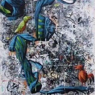 Ajining rogo soko busono series 6 acrylic on canvas, 35 x 25cm