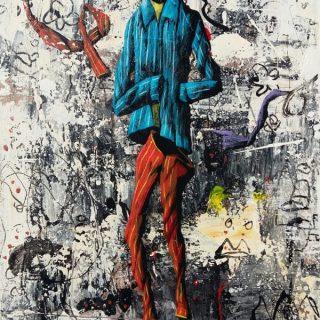 Ajining Rogo Soko Busono Series 7, acrylic on canvas, 35 x 25cm