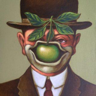 Magrittekwek, acrylic on canvas, 40x30cm