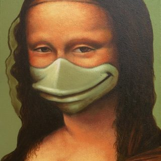 Monalikwek, acrylic on canvas, 40x30cm