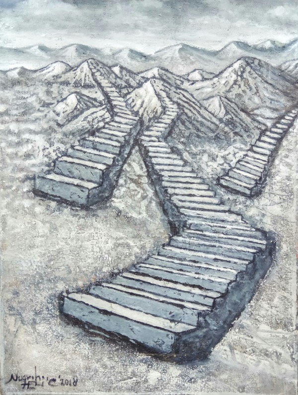 Stairway to nature, 40 x 30cm, oil on canvas