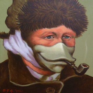 Vankwek #2, acrylic on canvas, 30x30cm