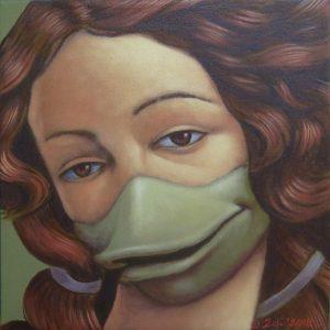 Venuskwek, acrylic on canvas, 30 x 30cm 2018