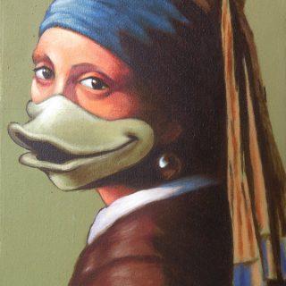 Vermeerkwek, acrylic on canvas, 40x30cm