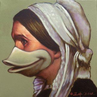 Whistlerkwek, acrylic on canvas, 30x30cm