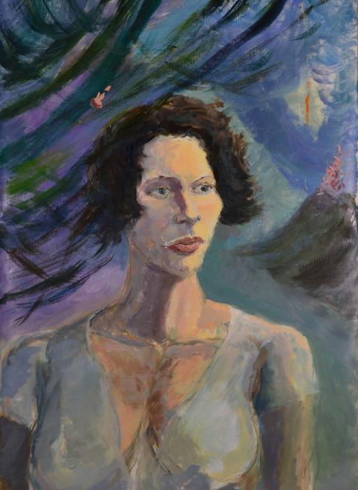 Bali girl1, oil on linen, 58 x 82cm (incl. frame)