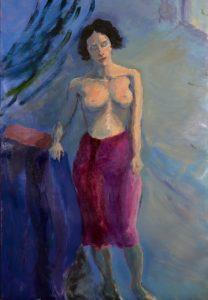 Bali girl2, oil on linen, 51 x 76cm (framed)