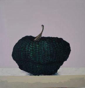 Blue pumpkin no 3, oil on linen, 84 x 86cm