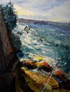 Bradley Head, oil on linen, 62 x 47cm (incl frame)