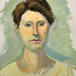 Chiara, oil on linen, 51 x 61cm (framed)