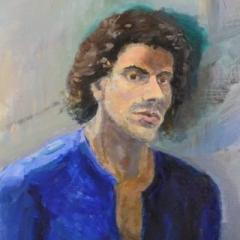 Daniel, oil on linen, 53 x 78cm (framed)