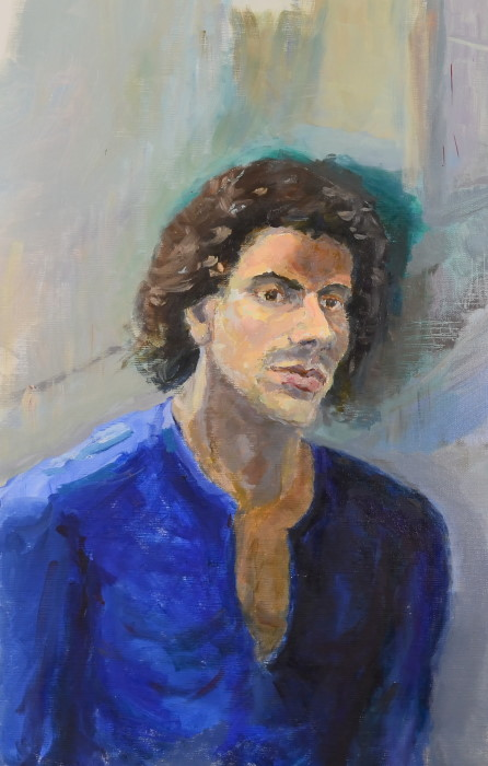 Daniel, oil on linen, 53 x 78cm (framed)