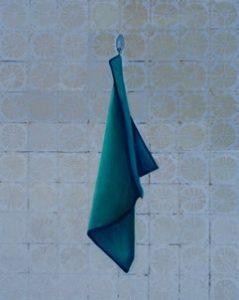Doctor office towel, oil on linen, 53 x 43cm (incl frame)