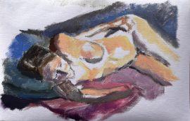 Elspethsketch, oil on linen, (incl frame)