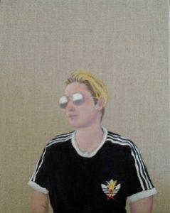 Enby, oil on linen on panel, 36 x 31cm (incl frame)
