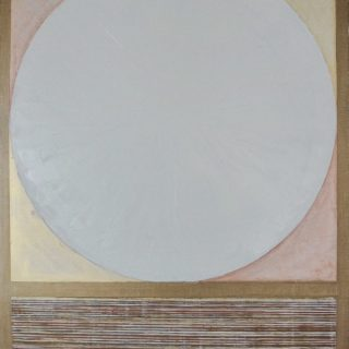Fas oil and metal flake on linen, 76 x 101.5cm