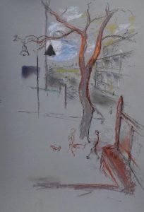Kiribilli, pastel on paper, 50 x 37cm (incl frame)
