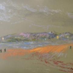 Manly Dawn, pastel on paper, framed, 57 x 46cm