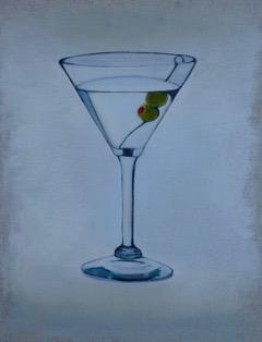 Martini, oil on linen on panel, 45 x 38cm (incl frame)