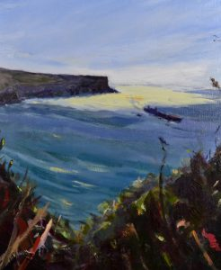 North head, oil on stretched linen, 38 x 46cm