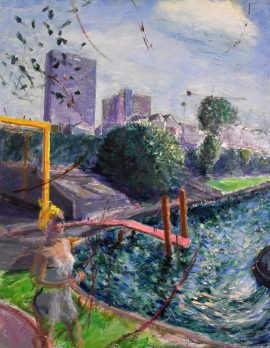 North Sydney with Metro, oil on linen, 79 x 63cm (incl frame)