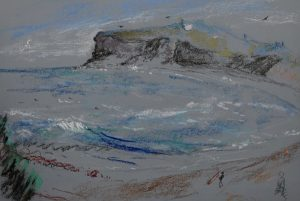 Northern beaches 6, pastel on paper, 50 x 37cm (incl frame)
