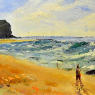 Northern beaches oil on board, 51 x 41cm (incl. frame)