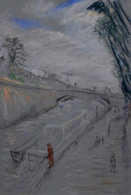 Notre Dame 4, pastel on paper, 50 x 37cm (incl frame)