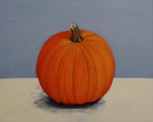 Pumpkin No 12, oil on gesso panel, 44 x 54cm