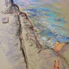 Rockpool4, pastel on paper, framed, 36 x 46cm
