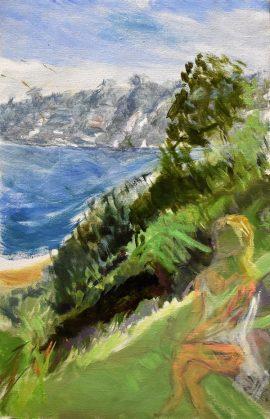 Sirius Cove, oil on linen, 59 x 46cm (incl frame)