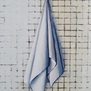 Towel, chicago, oil on linen, 60 x 80cm