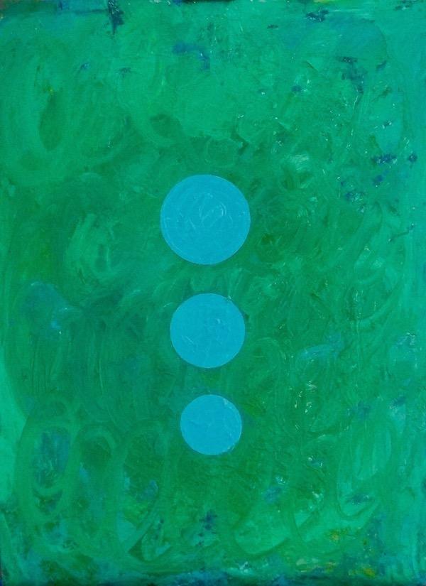 Untitled oil on board, 46 x 61