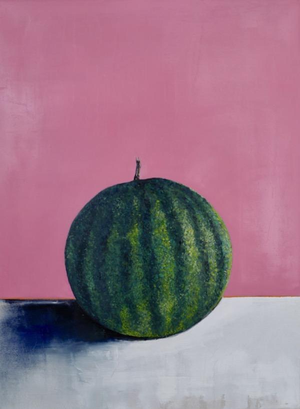 Watermelon, 4th of July, oil on linen, 51 x 77cm