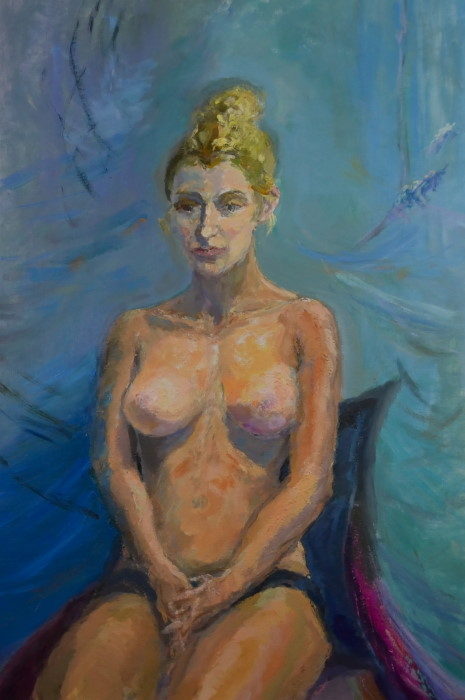 Yara2, oil on linen, 53 x 77cm (incl. frame)