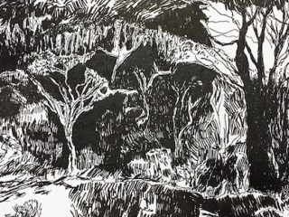 Country ink on paper, 21 x 29 7 cm