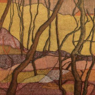 Desert Ground ink on paper, 77 x 112cm