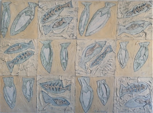 Fish and Loaves 6 acrylic on canvas 112 x 152cm