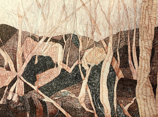 Landscape - WA ink on paper, 57 x 76cm