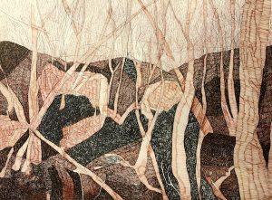 Landscape wa, ink on paper 57 x 76cm