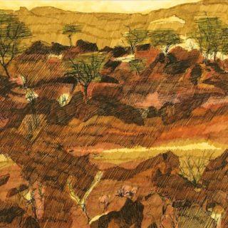 Last glimpse broken hill ink on paper, 21 x 29 7cm