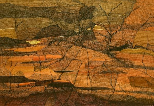 Living Desert-Broken Hill, ink on paper, 77cm x 112cm