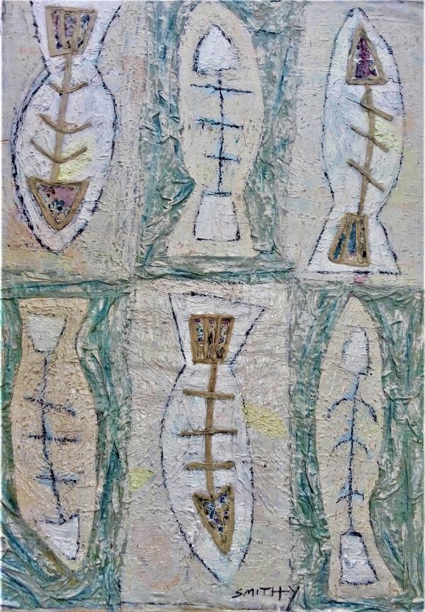 Sage of the Sea, mixed medium, 130cm x 90cm
