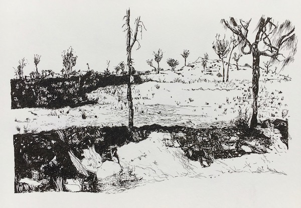 That drive through wa 6 ink on paper, 21 x 33cm