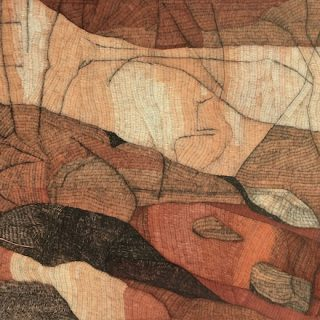 Two Rocks, ink on paper, 57cm x 76cm