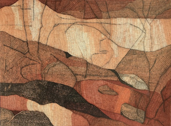 Two rocks ink on paper, 57cm x 76cm