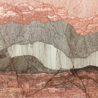 Watarrka national park ink on paper, 77cm x 112cm