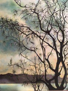 Acacia tree 1, acrylic on canvas, 102 x 77cm